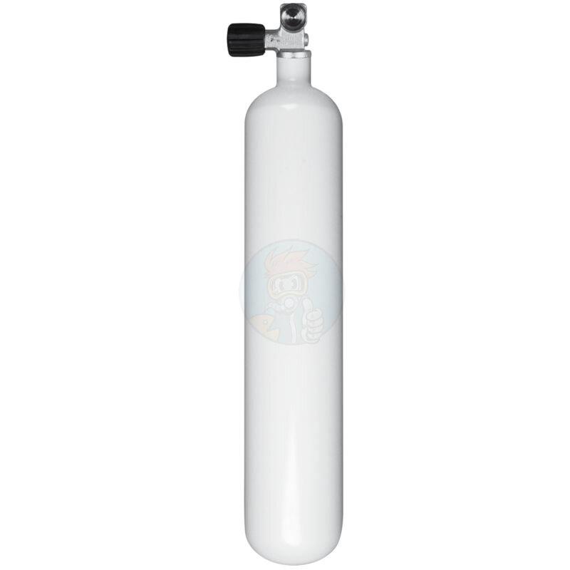 Stahlflasche Tauchflasche 3 Liter 230 bar Durchmesser 100mm ohne Ventil Flaschenhalsgewinde M18x1,5mm