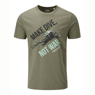 Dive Not War T-Shirt Herren M