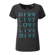 Dive Live Love T-Shirt Damen