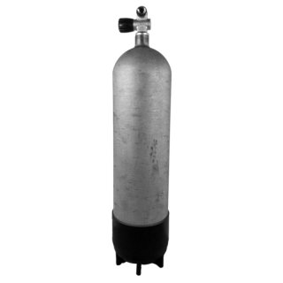 12 Liter Stahlflasche lang 200 Bar Hot Dipped