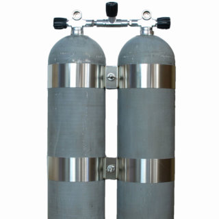 Doppel 12 Liter Stahlflasche 200 Bar Hot Dipped